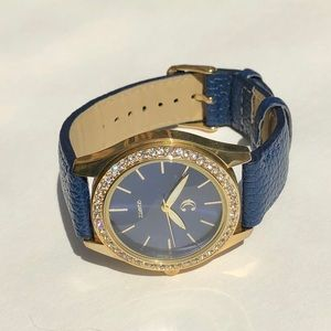 New navy rhinestone watch